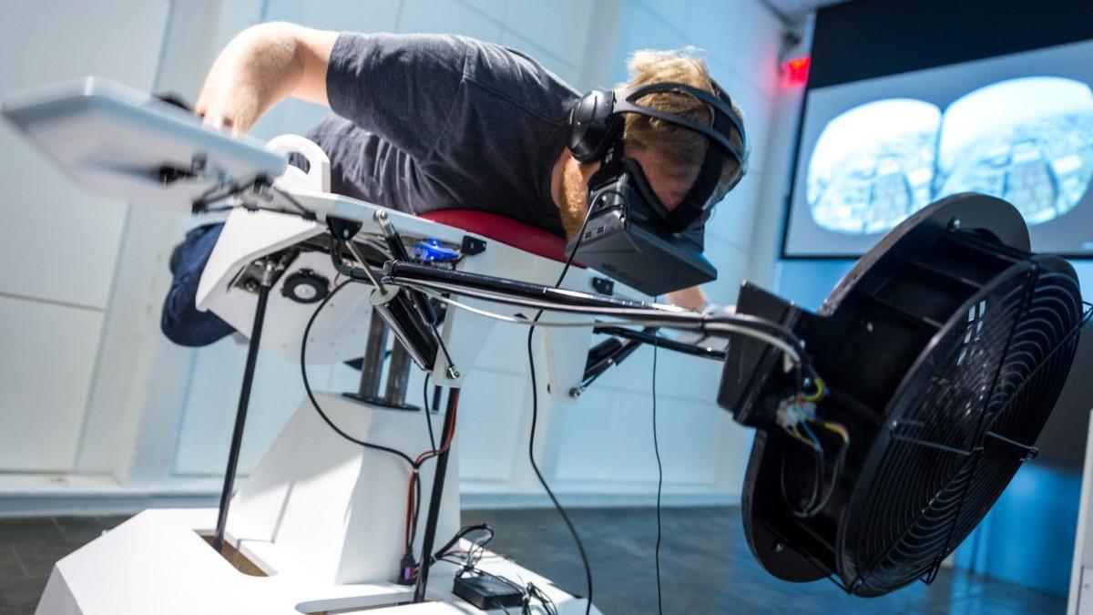 Realidade virtual torna voo possível